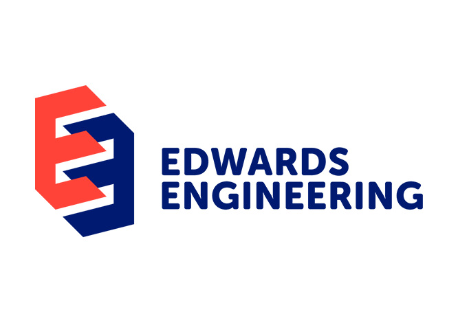 The Edwards Engineering logo designed by Thunderbolt Projects